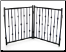 Emperor Rings Freestanding Dog Gate