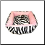 Zebra Plush Designer Square Dog Bed