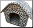 Collapsible Dog/Cat (Paw Prints) House