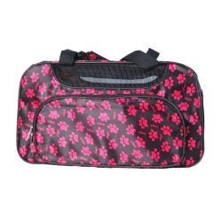 Pink paws dog travel tote bag