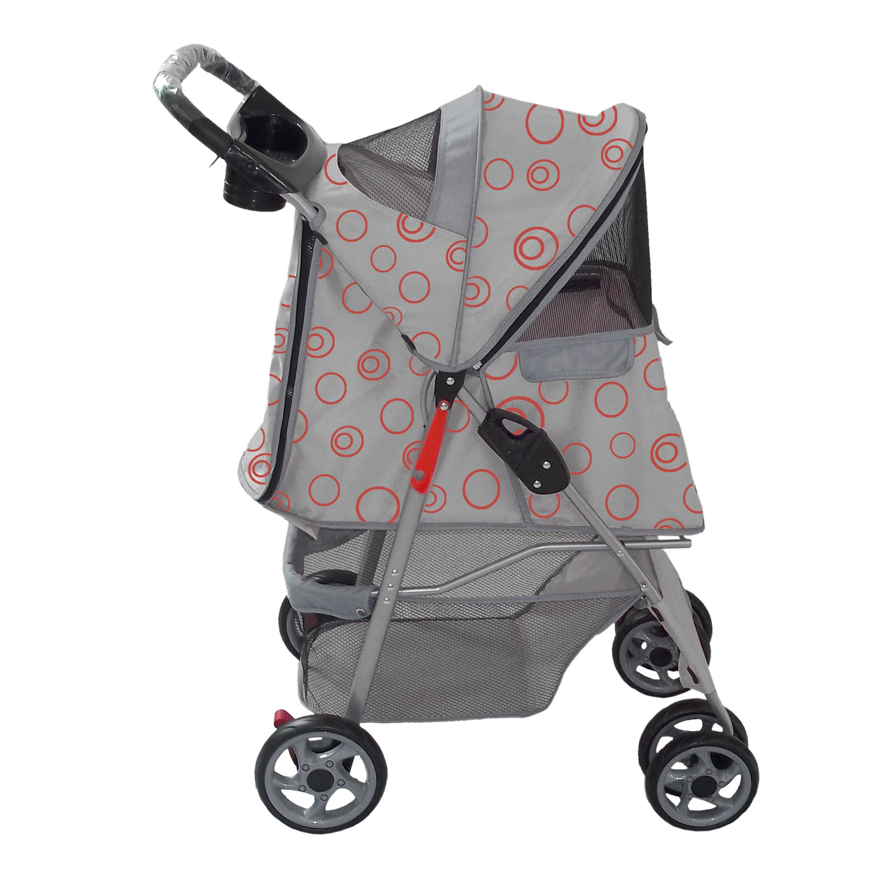 Gray Pet strollers for cats and dogs