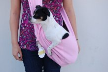 Designer Dog Shoulder Sling Bag - Pink