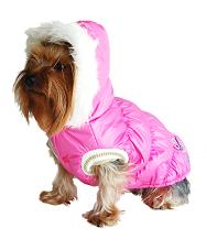 Designer QPet Dog Bubble Jacket - Pink