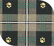Paw plaid dogbed fabric