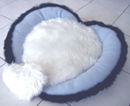 Blue Heart-shaped designer dog bed