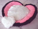 Pink Heart shaped designer dog bed