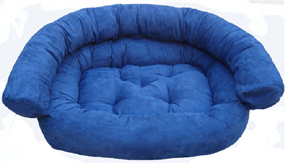 Ultra light dog couch bed - blue
