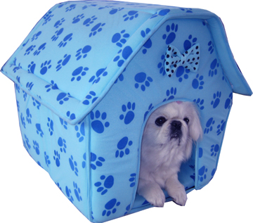 Medium collapsible dog house (blue)
