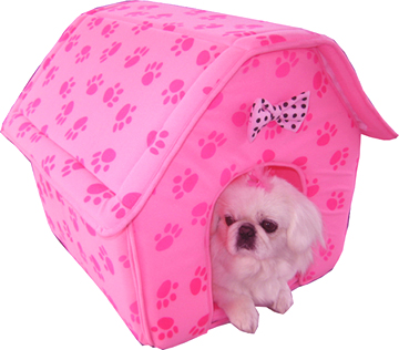 Medium Collapsible dog house (pink)