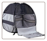 Designer Silver Dog Bed Tent